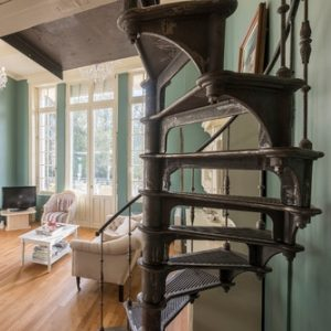 Romantic interior design staircase
